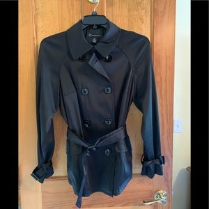 INC Black Satin Coat